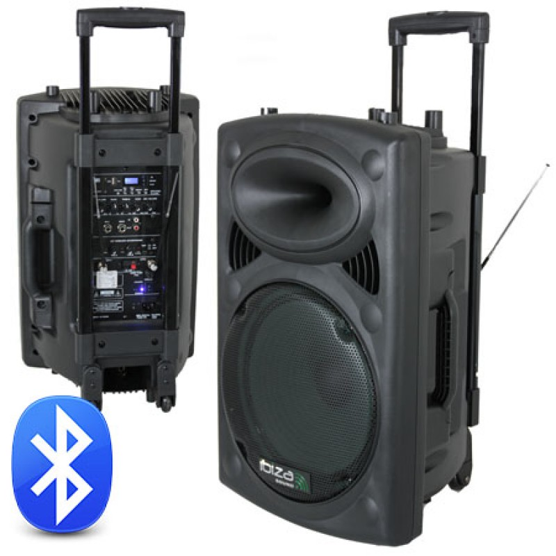 Boxa portabila 12 inch/30cm 200W RMS 12V/230V USB/MP3 BT Ibiza