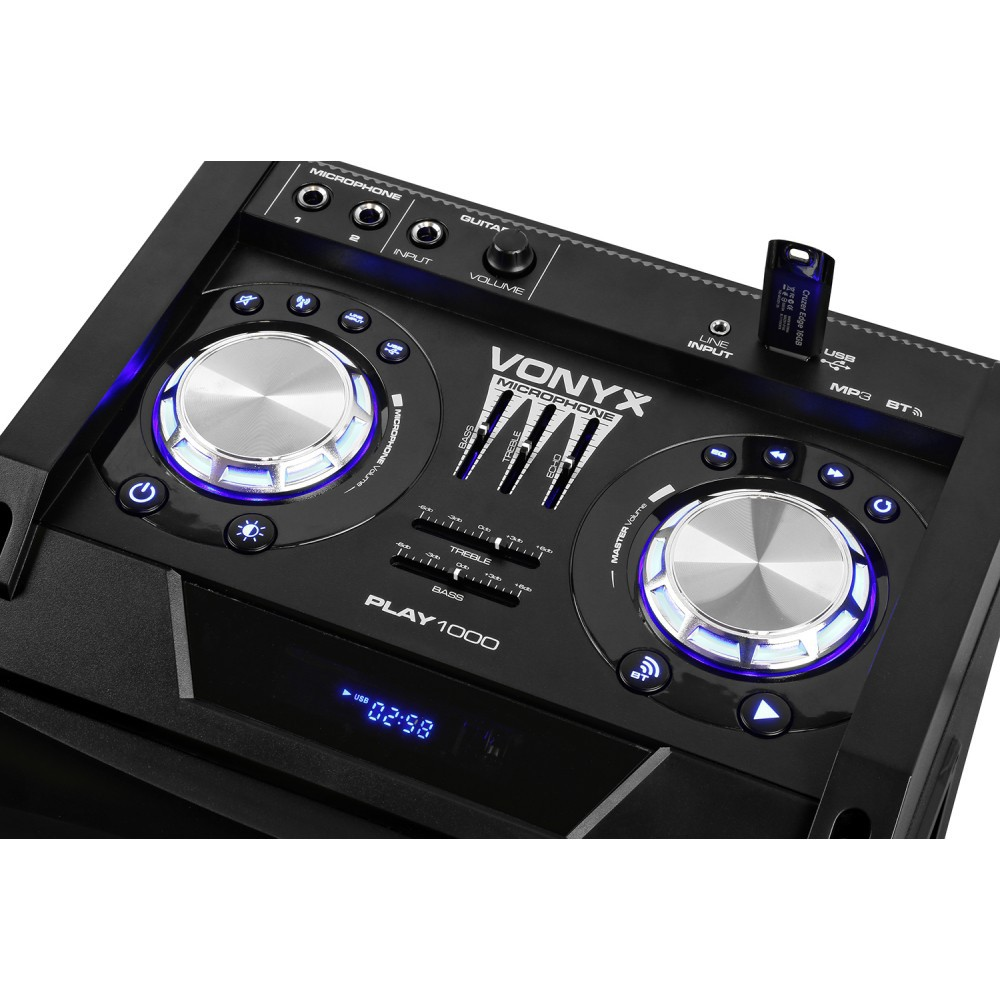 Vonyx  Play1000 Boxa activa partystation Bluetooth / USB 150W RMS