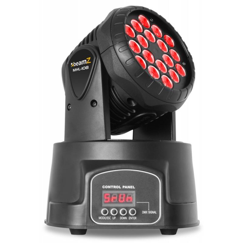 MHL108MK3 Mini Moving Head LED 18x 3W 3-in-1 RGB