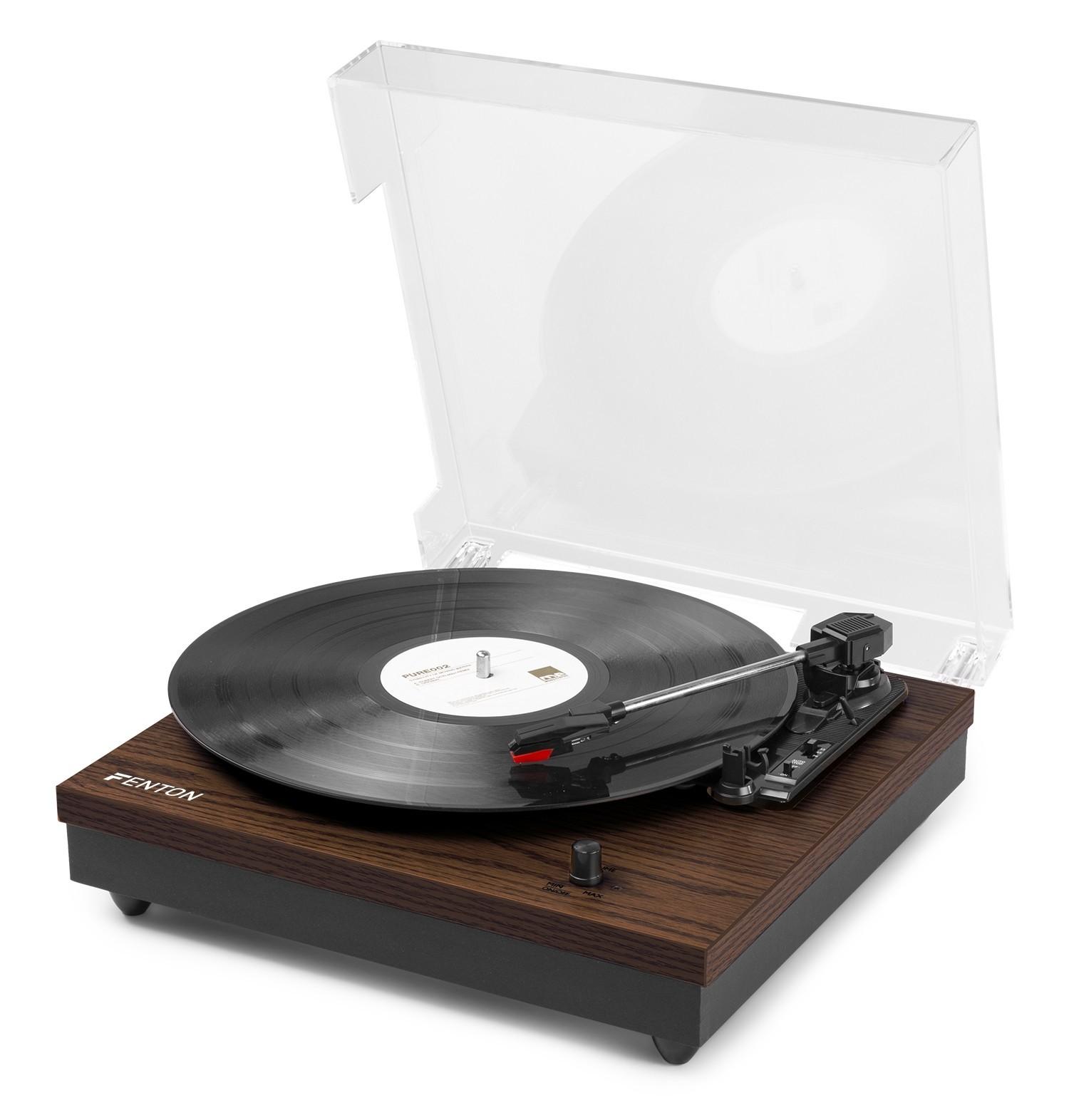RP112D Pick-up cu Bluetooth, carcasă din lemn, Fenton