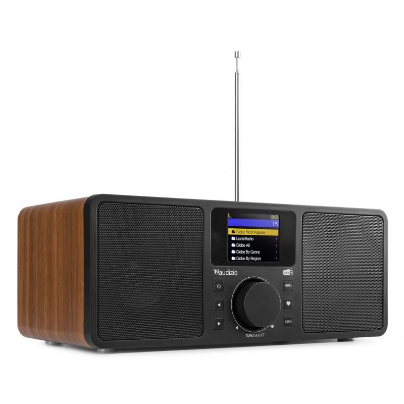 Rome Radio Wi-Fi, 2x25W, Tuner DAB+, Bluetooth, negru/maro, Audizio