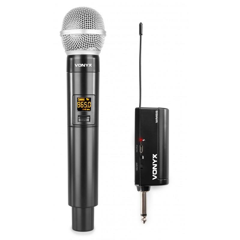 WM55 Microfon fără fir UHF, Plug & Play, Vonyx