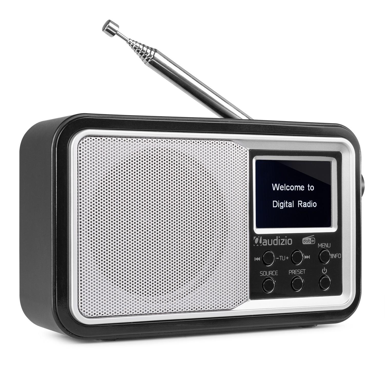 Anzio Radio FM DAB+ cu acumulator, 2000mA / 5V, 15W, Bluetooth, argintiu, Audizio