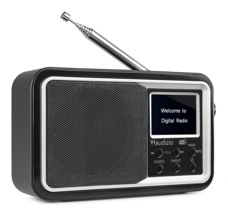 Anzio Radio FM DAB+ cu acumulator, 2000mA / 5V, 15W, Bluetooth, negru, Audizio