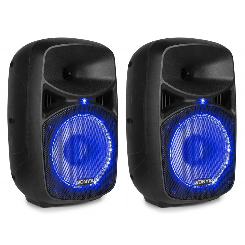 "VPS082A Kit sonorizare 2x8"" activ+pasiv  Bluetooth/USB/SD 2x50W Vonyx"