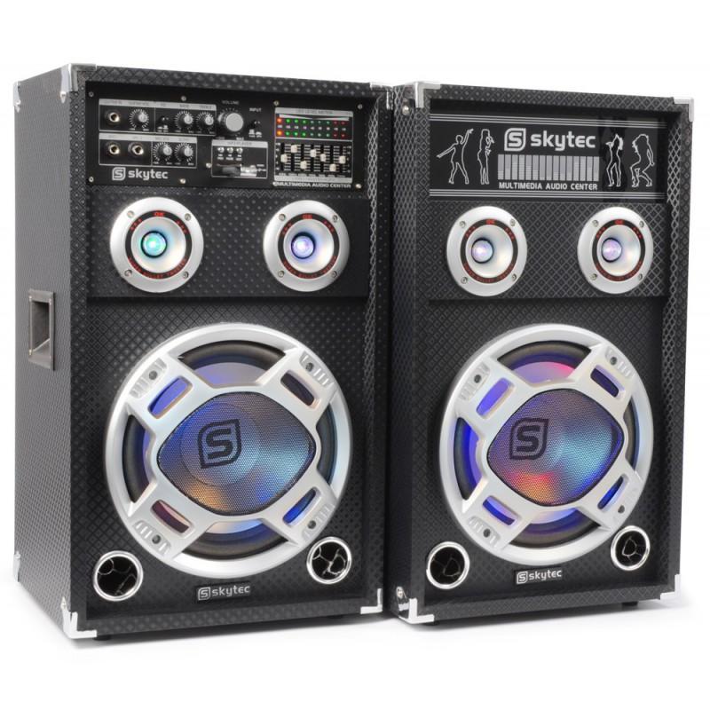 """Set boxa activa KA-12 12"""" USB/RGB LED 1200W (2x120W RMS)"""