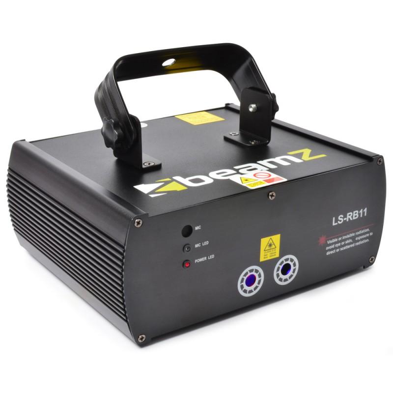 Laser LS-RB11 rosu, albastru DMX + Gobo
