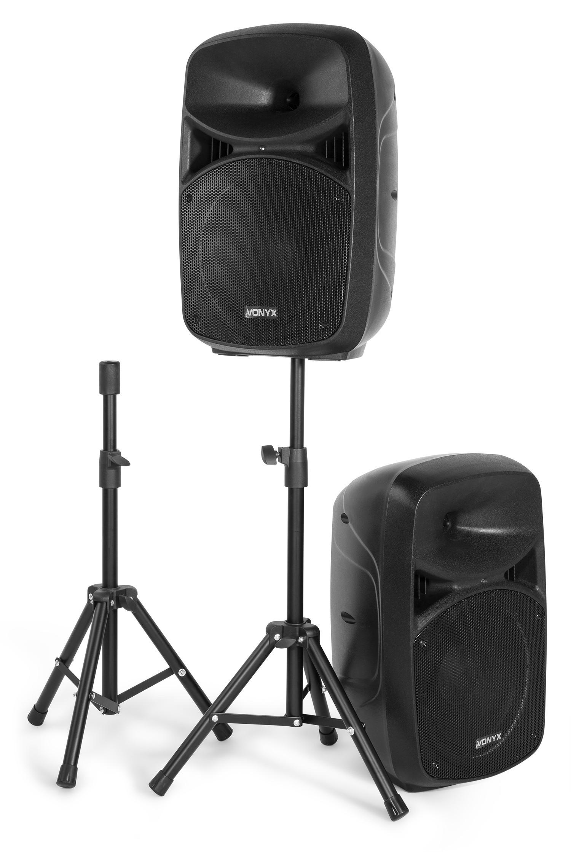 "VPS102A Kit sonorizare 2x10"" activ+pasiv  Bluetooth/USB/SD 200W Vonyx"
